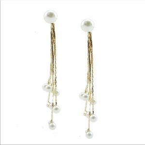 Pearl Tassel Dangle Earrings